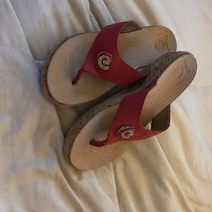 Crocs  red sandals